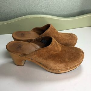 Ugg Australia shoes heel slides women size 6 suede